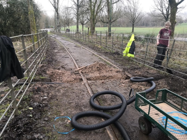 Installing new drainage on 1st reservation